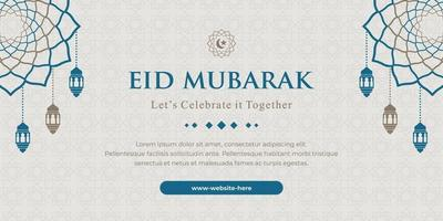 horizontal eid banner vector