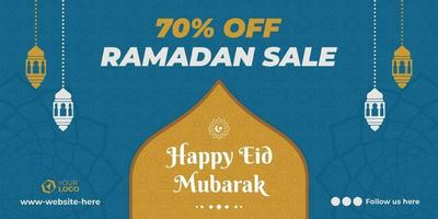 Sale banner with islamic greetings vector