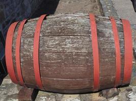 wooden barrel cask photo