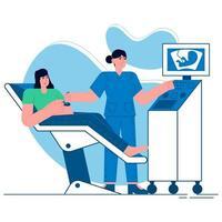 Medical ultrasound flat illustration vector