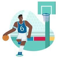 Basketball flat illustration vector