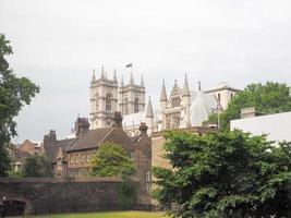 Abadía de Westminster en Londres foto