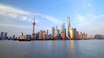 Shanghai skyline time lapse at Pudong district video