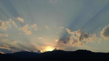 Sunrise and sunset timelapse video