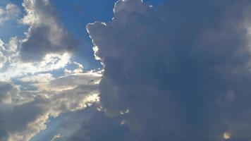 Sun and cloud timelapse on a sunny day. video