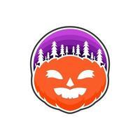 Halloween pumpkin design vector