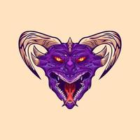 Dragon head design vector