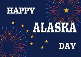 Illustration for Alaska Day anniversary, celebtated October 18. vector