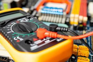 Multimeter with main board, maintenance, photo
