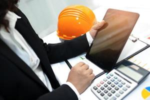 engineer working project accounting photo