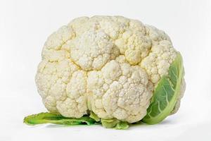 Fresh Cauliflower vegetable isolated on white background. photo
