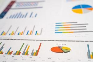Charts Graphs paper. Financial, Banking Account photo