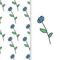 Wildflower lavender flower pattern in a watercolor style isolated. vector