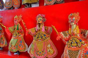 espectáculo de teatro tradicional de marionetas chinas foto
