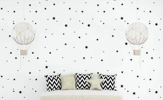 maqueta de pared en blanco para niños - 1 foto