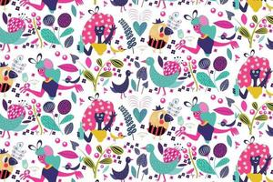 fun party time pattern vector