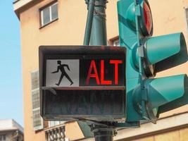 Red traffic light photo