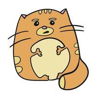 Cartoon funny cat vector