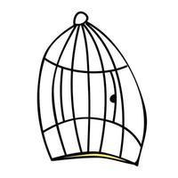Cage for birds. Cartoon style vector