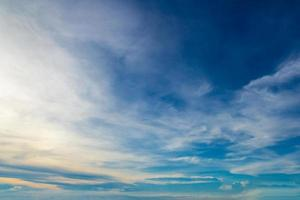 Beautiful blue sky with clouds photo