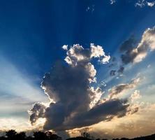 sun rays at sunset photo