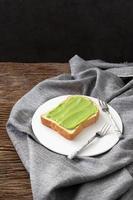 pandan custard bread thai dessert  sweet photo