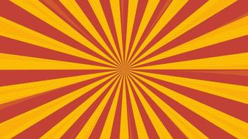 New abstract yellow sunrise comic zoom background vector
