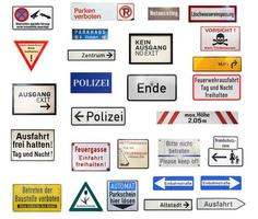 German traffic signs isolated photo