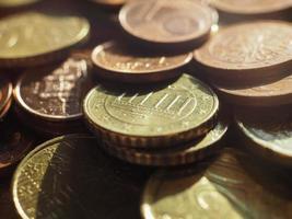 monedas de euro, unión europea foto