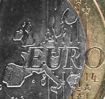 Moneda de 1 euro, unión europea foto