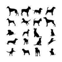Black dog Icon Set vector
