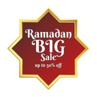 Ramadan BIG Sale element banner template vector