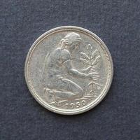 Moneda de 50 pfennings, alemania foto