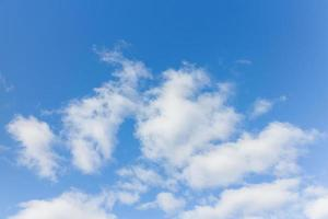 Blue sky with cloud on a sunny day. photo