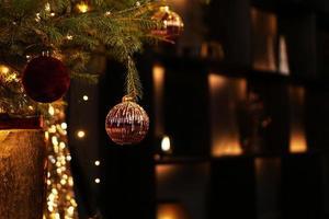 año nuevo 2021 navidad hermosas luces bokeh foto