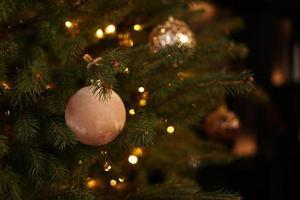 New Year 2021. Christmas beautiful lights bokeh photo