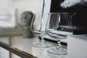 Empty glasses for whiskey photo