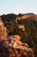 Castle of Alanya overlooking the city photo