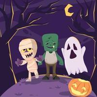 Halloween Monster Characters vector