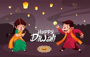 Happy Diwali Festival Day vector