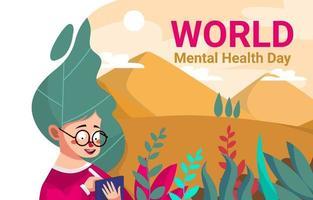 dia mundial de la salud mental vector
