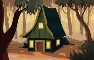 Mountain Cabin Background vector