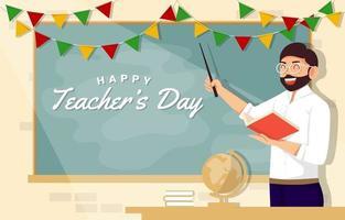 Teacher in the Class Room vector