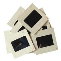 diapositivas aisladas sobre blanco foto
