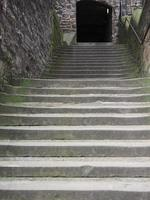 Steps linking the old and new town in Edinburgh photo