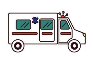 Ambulance emergency car flat concept. Vector illustration