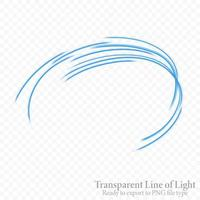Transparent blue wavy line, ready export to PNG file vector