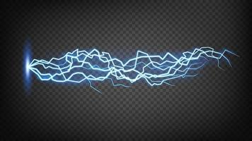 Blue Lightning Flash Bolt, Thunderstorm effect. Vector