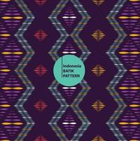 indonesia modern batik pattern seamless background vector