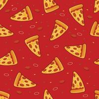Pizza seamless pattern background vector